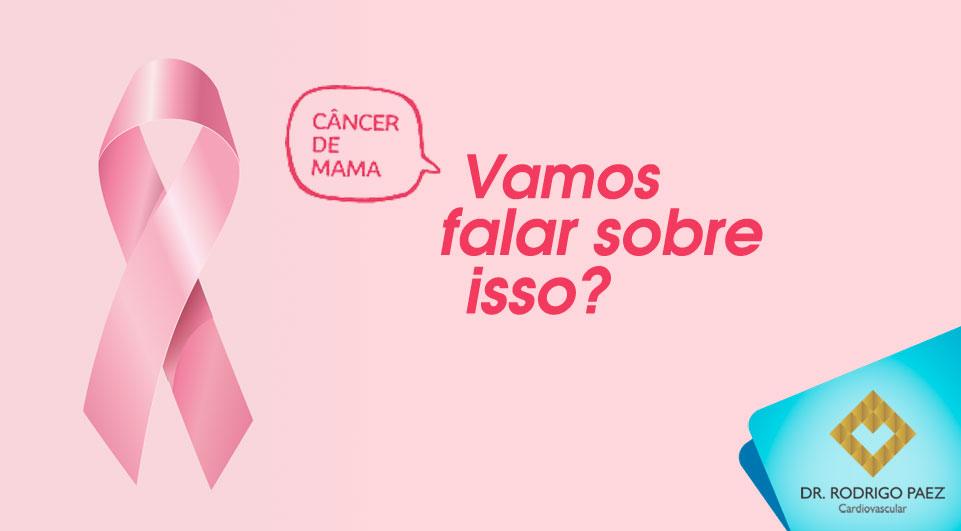Outubro Rosa contra o câncer de mama.